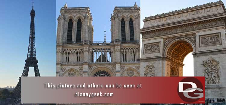 9/30 - Day 4 - Central Paris Sightseeing - The Eiffel Tower, Seine River, Notre Dame, Louvre and Arc de Triomphe.