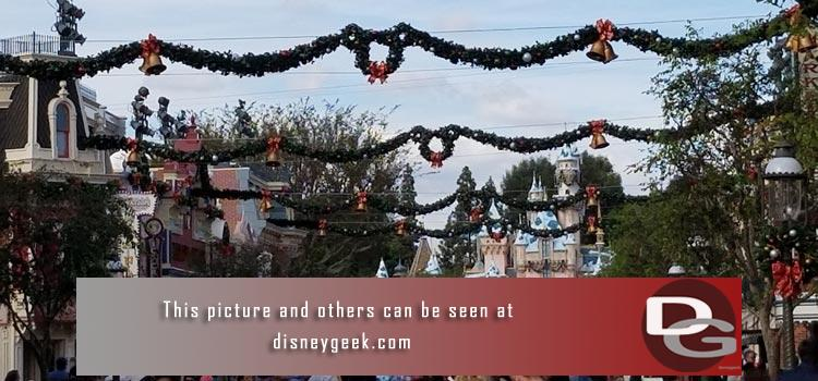 11/17 - Christmas decorations & entertainment from both parks, Downtown Disney and Grand Californian plus Star Wars construction.