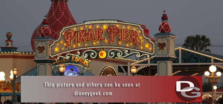 6/29 - My 1st look at Pixar Pier plus a check of all the projects - Star Wars, Parking Structure, Downtown Disney and my regular assortment of random pictures as I roamed the parks.