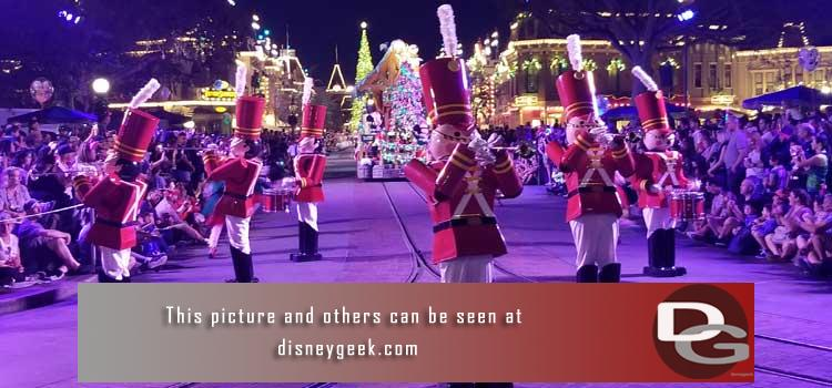 11/8 - Opening day of the holiday season.  A look at the Christmas entertainment & decorations plus ongoing projects in both parks