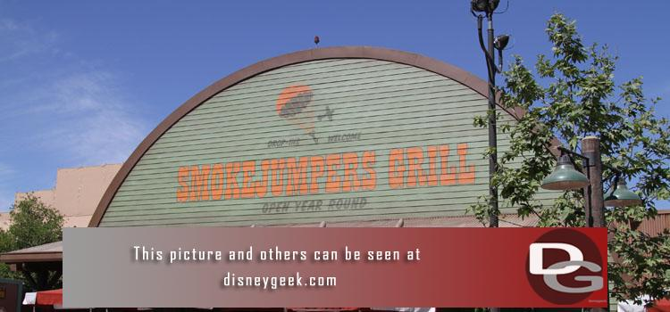 3/20 - The Smokejumpers Grill opens at Disney California Adventure - a couple of detailed walk throughs taking a look at the props, signs, interior and exterior (both day and night).