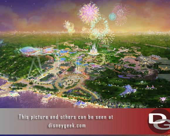 Concept art of the new resort