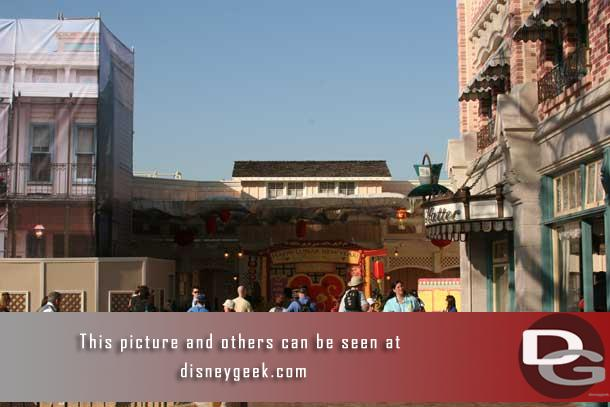 In 2008 to celebrate the Year of the Mouse Disneyland had a Lunar New Year photo location on Main Street.