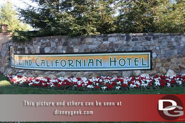 This is the sign that is along Disneyland Drive (formerly West street).
