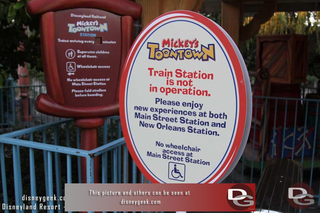 2.05.16 - Stopped by Toontown Station