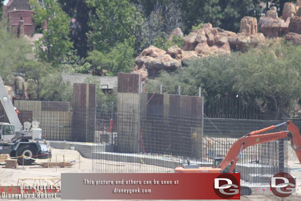 7.08.16 - Back to the walls along the Big Thunder Trail and how it turns, wonder if that will be an entrance or if it is just a retaining wall.