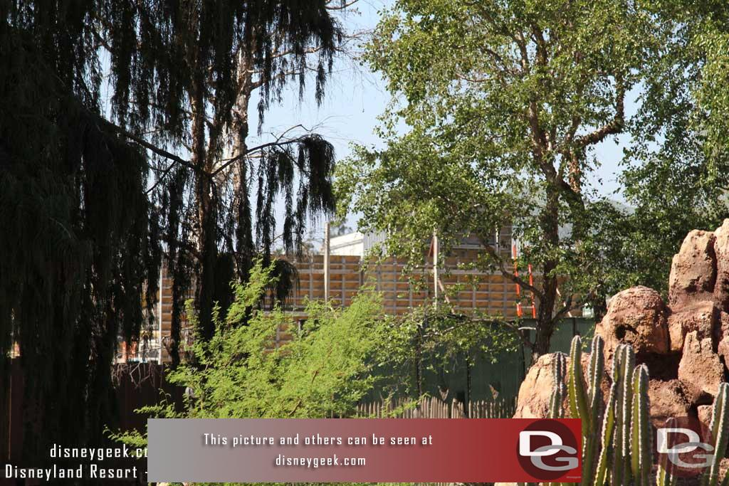 7.08.16 - The new wall is clearly visible from the Big Thunder Trail