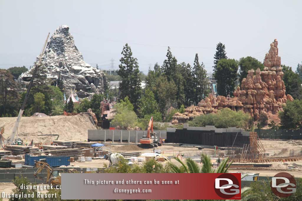 7.29.16 - The wall along the Big Thunder Trail.  More wall taking shape on the right.