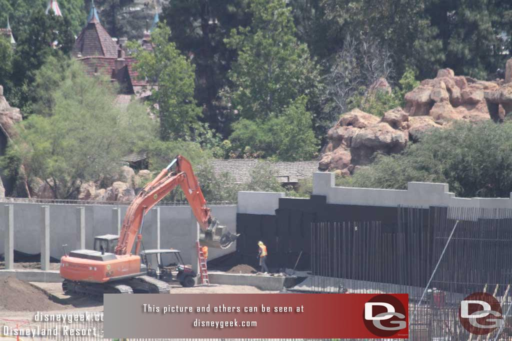 7.29.16 - Looks like they are putting dirt along the new wall.