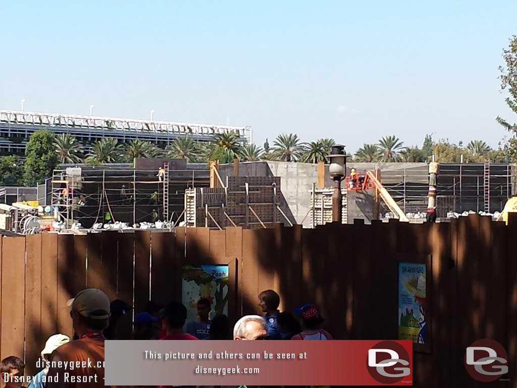 9.30.16 - Jumping into the park, the view from Critter Country to give an idea what the walls look like from the other side.
