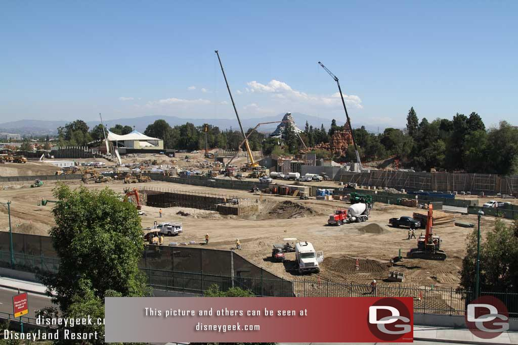 9.30.16 - A wider picture of the site.  In the foreground closest the structure they are wrapping up utility work.