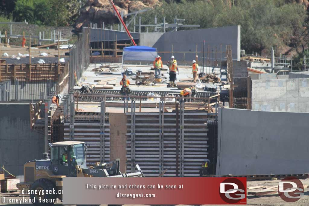 10.21.16 - The marina roof looks to be almost done, one more segment to go and they are working on the wall nearest us.