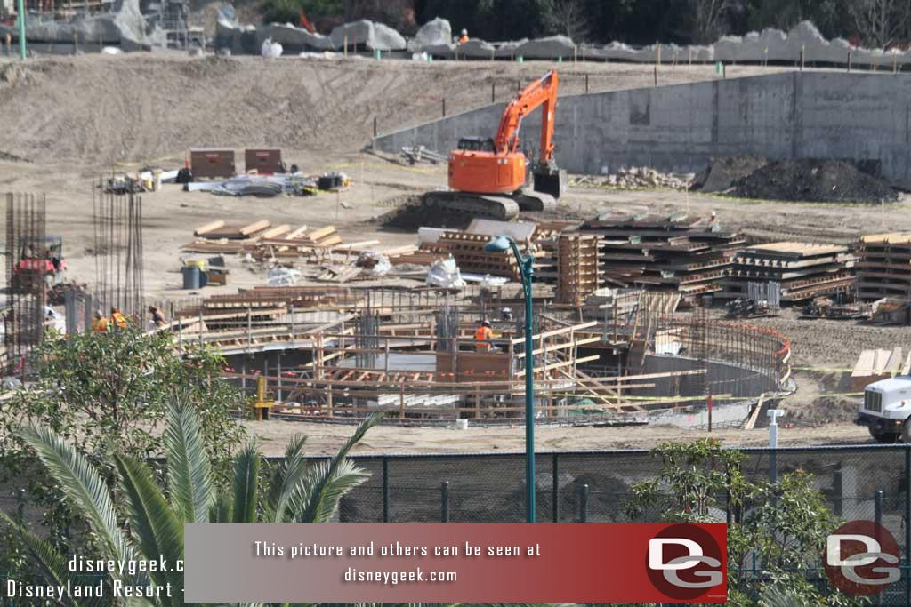 3.03.17 - The round structure at the end of the large show building has reached ground level.