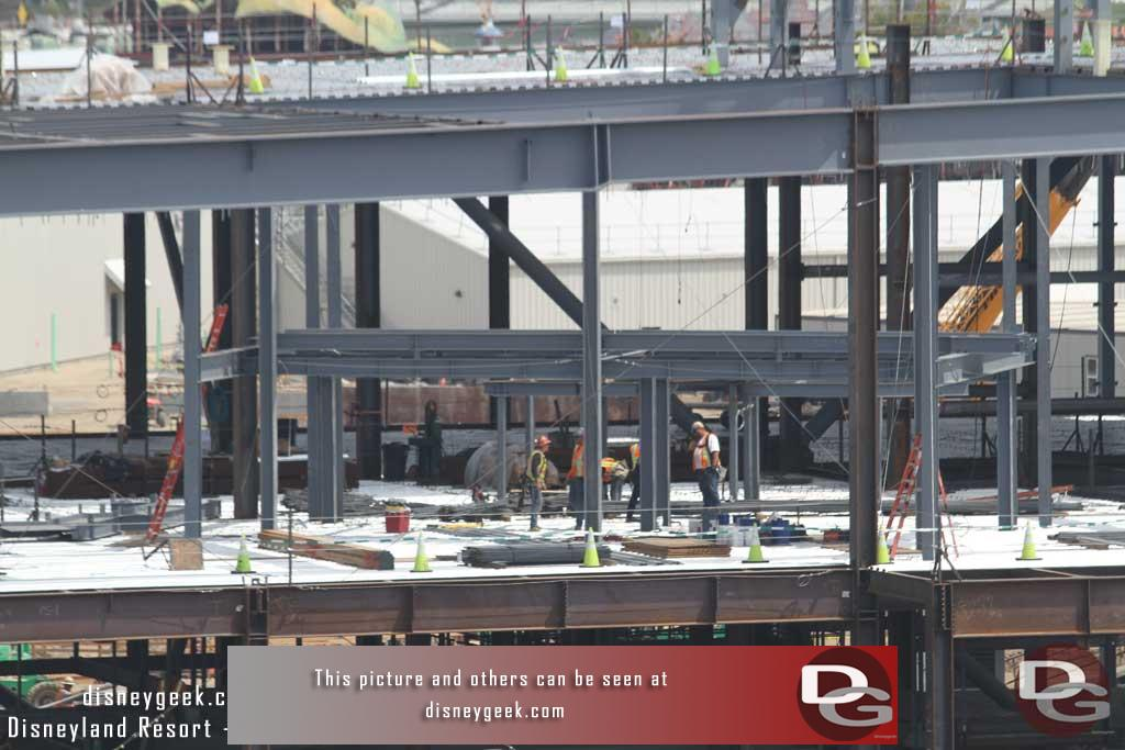 4.07.17 - A crew working on a sub structure on the second floor.
