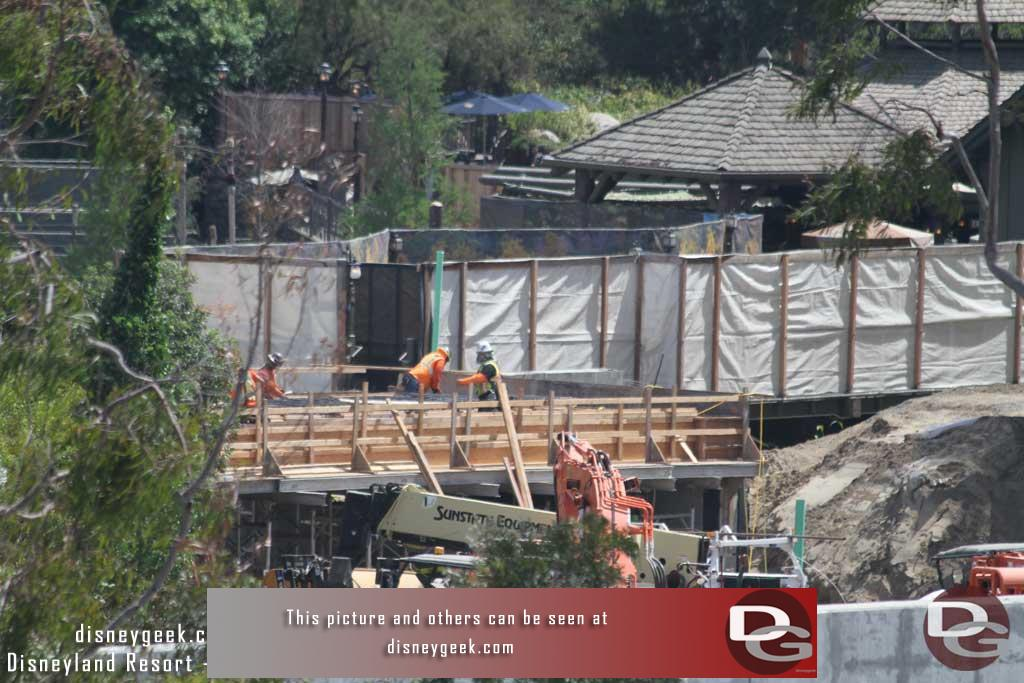 4.07.17 - A more clear look at the new bridge near Critter Country that the train will pass over