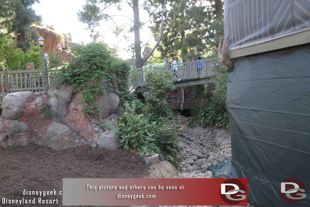 4.07.17 - The walls are down from the Hungry Bear Ramp and the temporary walkway is removed.