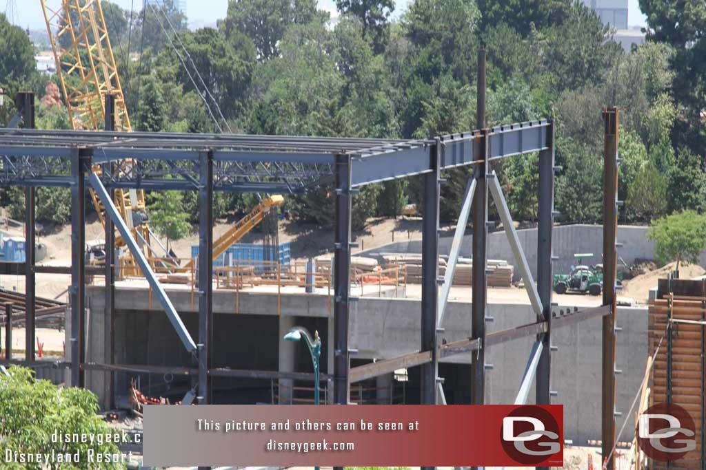 6.16.17 - The forms and temporary supports are removed from the circular structure area, the steel has reached that area which will be inside the buliding.