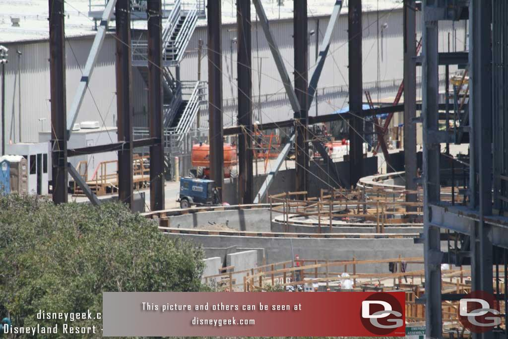 6.16.17 - A closer look at the foundation work for the Millennium Falcon attraction.