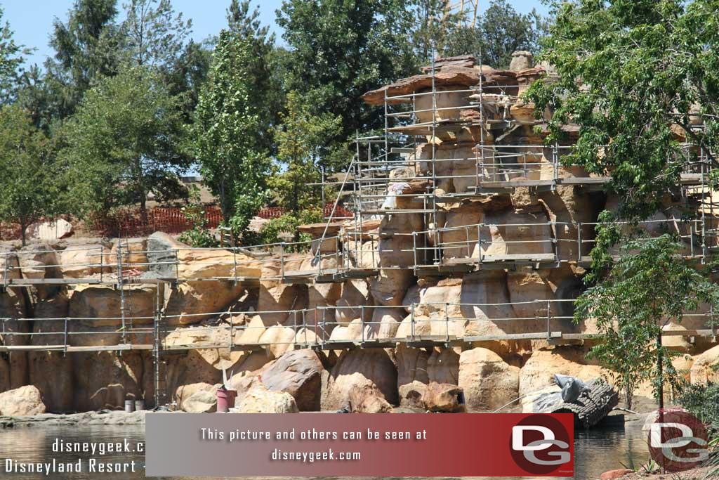 6.16.17 - A closer look at the rock formations that are receiving their final paint.
