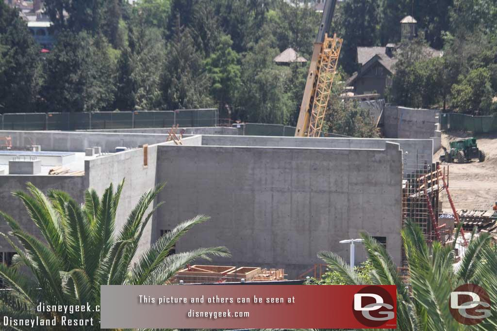8.04.17 - The form is still up on the right side of this structure.  Looks like rebar going in to complete the wall section.