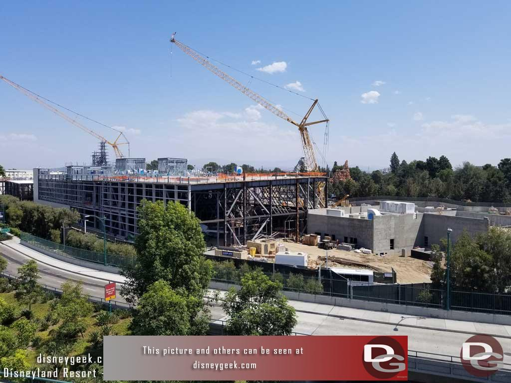 9.01.17 - An overview of the Star Wars: Galaxy's Edge from the Mickey and Friends Parking Structure
