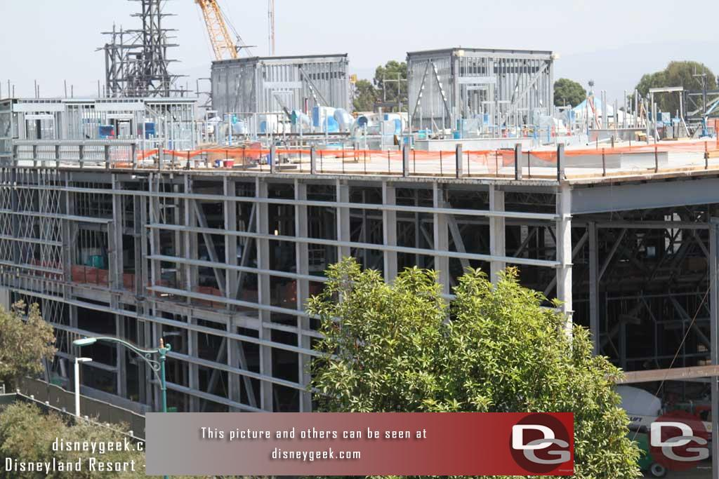 9.01.17 - Preparations for the exterior wall of the Battle Escape Building are well underway along Disneyland Drive.
