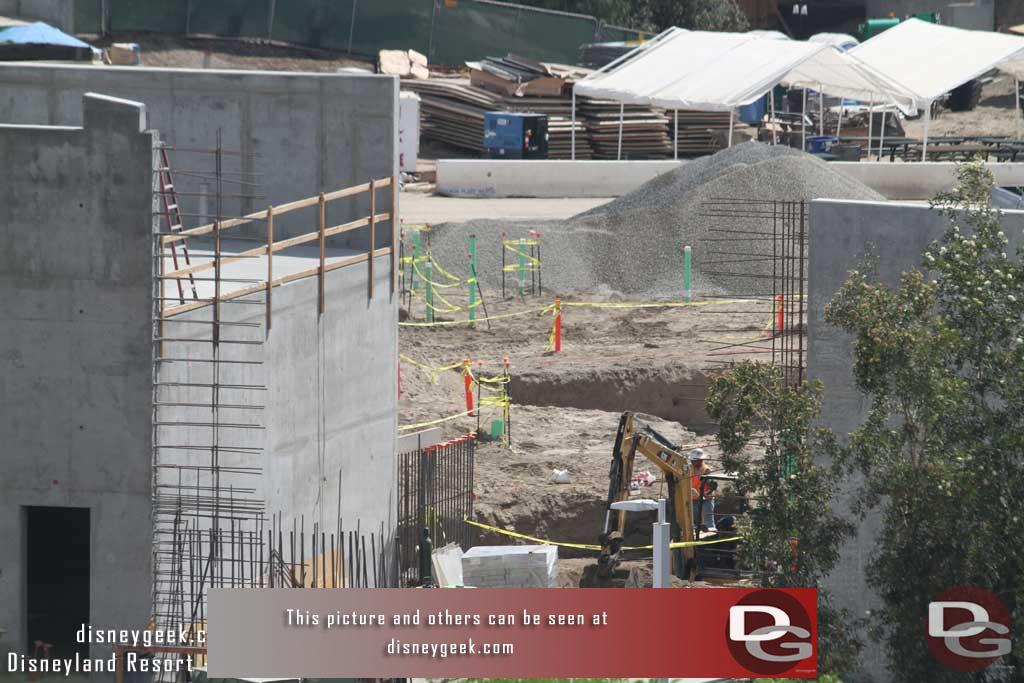 9.22.17 - The wall has not been completed, which means we can see some preparation work underway on the other side.