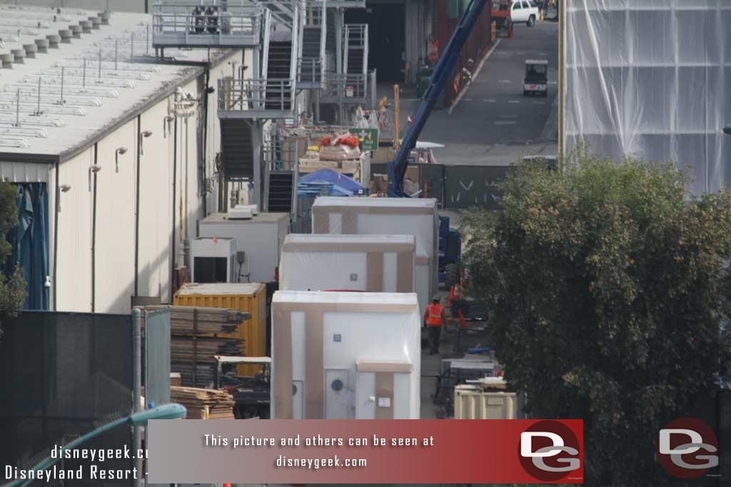 11.03.17 - Backstage several air handling units are on site and ready to be lifted onto the roof of the adjacent Millennium Falcon show building.