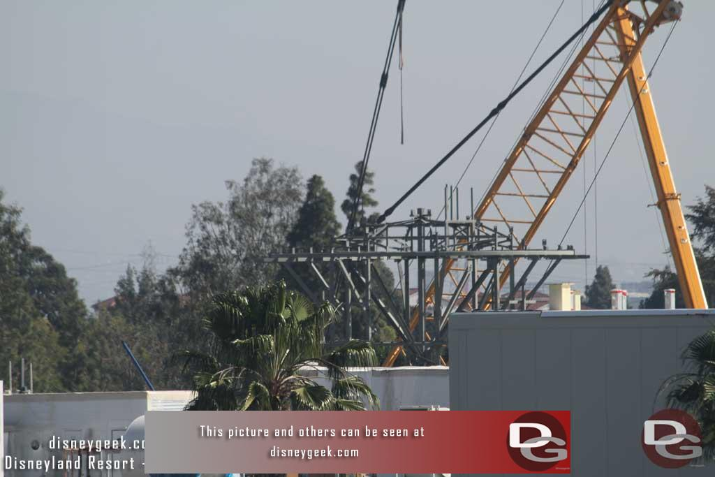 02.09.18 - The new structure which appears to be the top of a building.