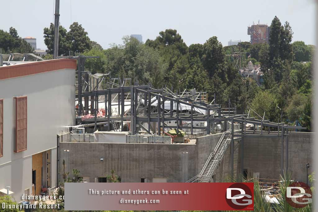 06.29.18 - Wire mesh is starting to be added to the steel structure.