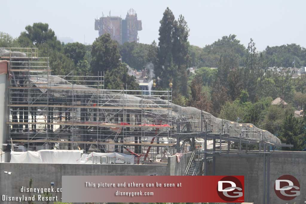 07.27.18 - Looks like the wire mesh framework is added to the steel.