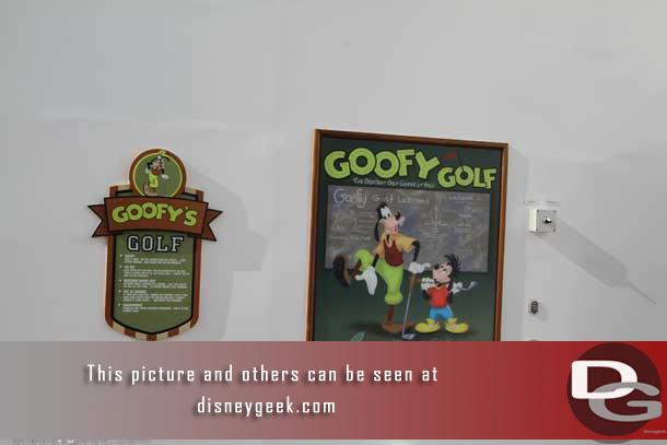 One of the key features here is Goofy Golf.  It is a nine hold course that rings the aft portion of the deck.