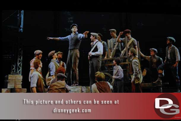 Images from the Newsies musical