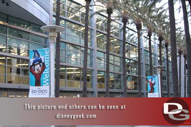 This photo was taken Thursday as I went to check in.  D23 Expo banners lined the walkways around the Anaheim convention center.