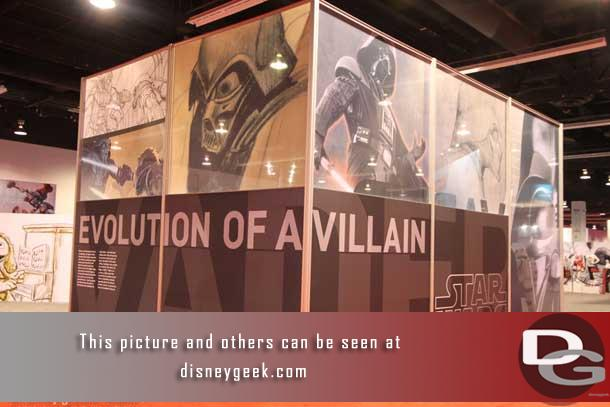 Disney Consumer Products had a large area on the main floor at the D23 Expo.  First up a look at Darth Vader: The Evolution of a Villain