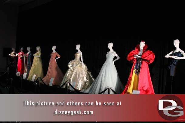 In the first room were several Disney inspired princess gowns that originally debuted during the 2012 holiday season at Harrods in Knightsbridge, London.