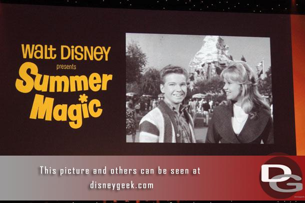As we waited for the show to get underway Disney film slides were shown.