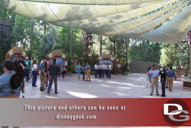 One last look now that the area is cleared of most guests.