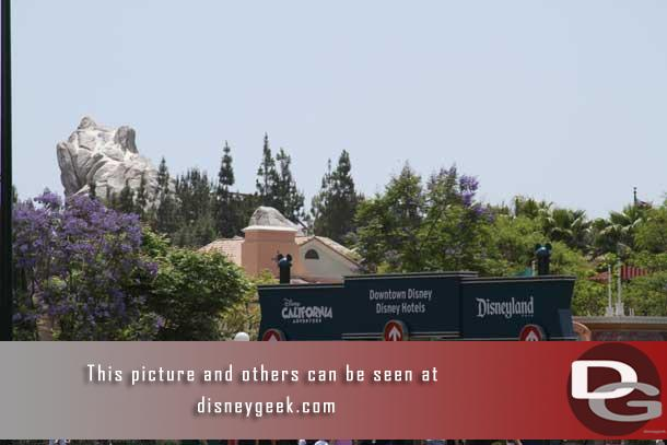 Walking into the Disneyland Resort from Harbor Blvd this afternoon.