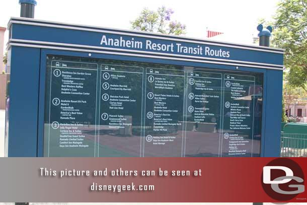 A directory of where all the shuttle buses stop (not sure I have taken a picture of this since I do not enter this way that often).