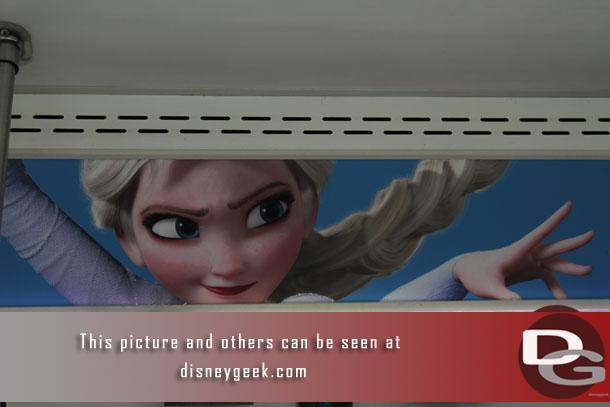 Frozen Fun ads inside the buses