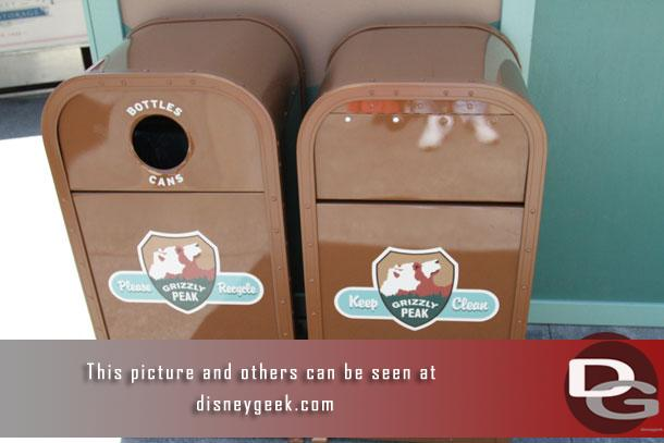 New trash can logos in the area.