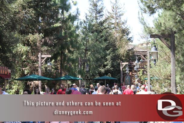 The park felt fairly crowded even though wait times were moderate.
