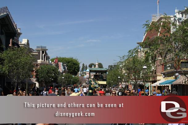 Main Street USA is alive with activity as always.