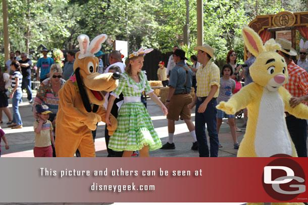 Rabbit from Winnie the Pooh and Pluto doing a rabbit impression round out the Bunny Hop group.