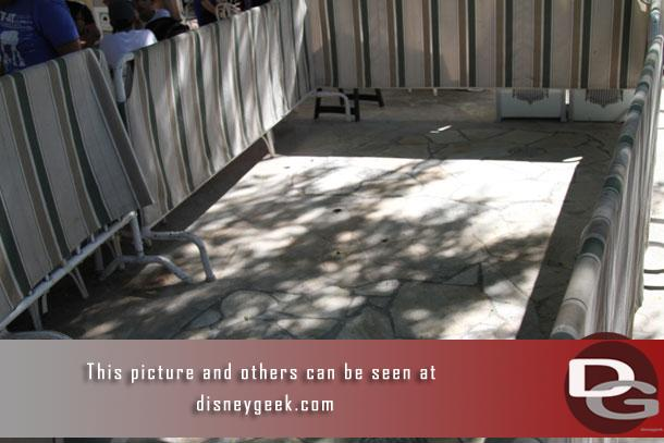 The walls are down in the River Belle Terrace/Stage Door eating area.. looks like maybe some pipe work?
