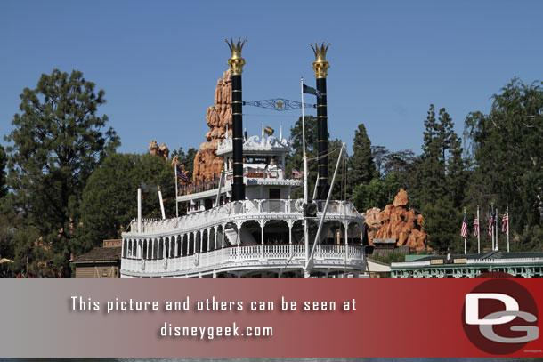 The Mark Twain getting ready for its next cruise.