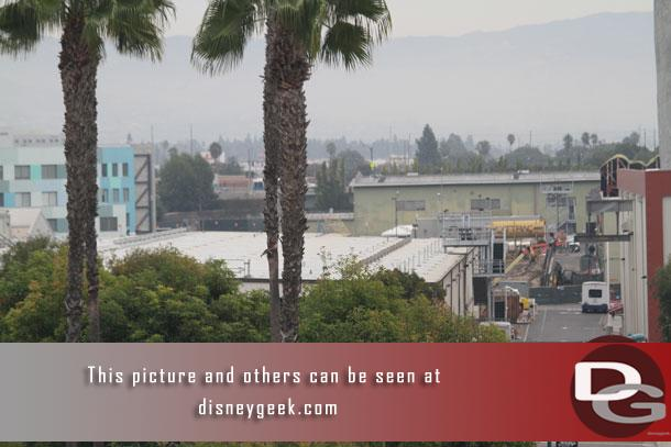 You can get a glimpse of a corner of the construction for Mickey's Runaway Railway