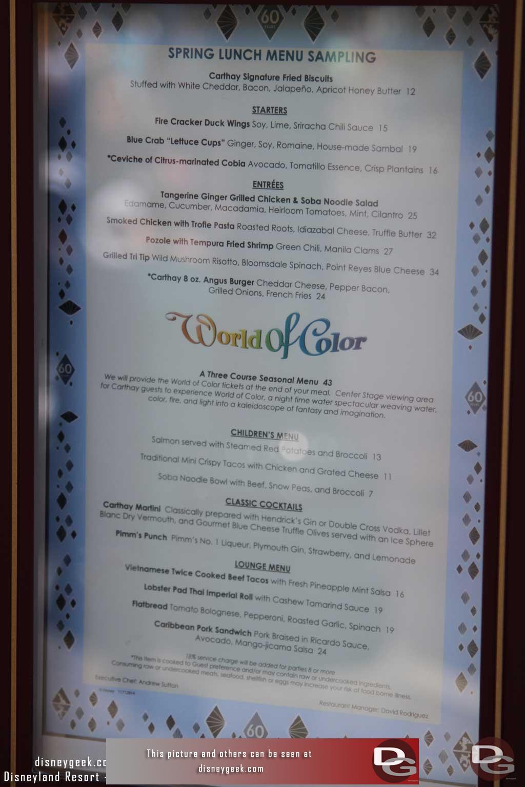 Disneygeek - Disneyland Resort Guide - Dining - Carthay ... Fish Tacos