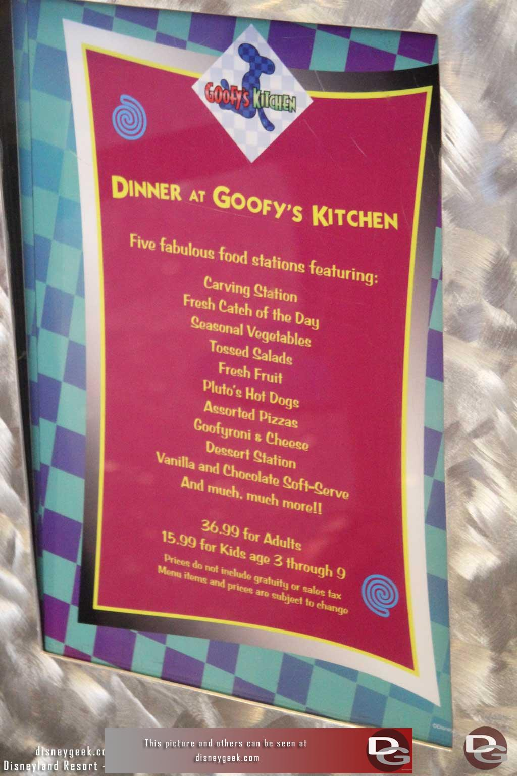 Disneygeek Disneyland Resort Guide Dining Goofy S